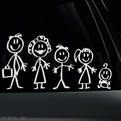 Family Member Figures Stickers Reflective Car Vinyl Decal Sign Sticker Sign