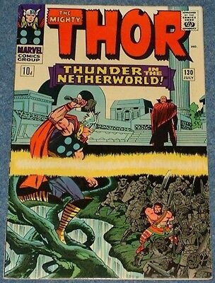 MIGHTY THOR  # 130 (1966) - Hercules! Pluto! Lee - Kirby Silver Age Classic!