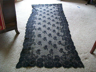 Victorian Chantilly Lace Veil, Table Cover, Etc. From the Estate of film star