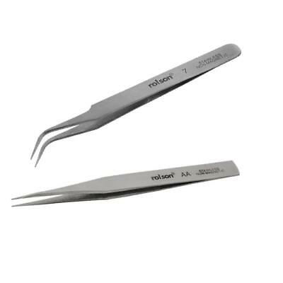 Tweezers Non Magnetic Straight Curved / Stainless Steel Anti magnetic fine