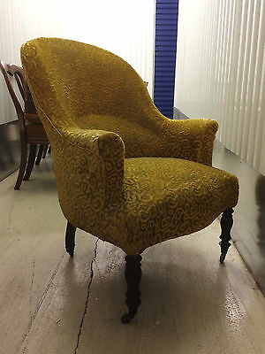 19Th Century French Napoleon Iii Salon Armchair