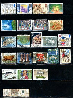 Great Britain - great selection of 22 stamps - MH/Used - CV=$8.00