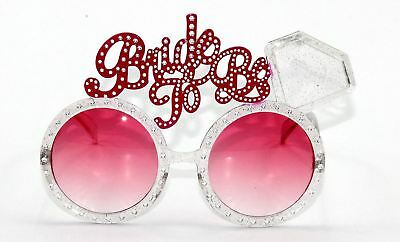 2  Bride To Be Glasses Hen Party Novelty Accessories Fancy Dress Hen Night-Fun