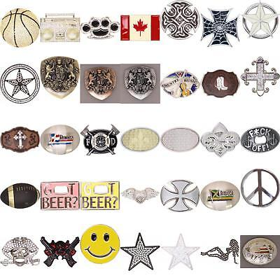 Retro Metal Belt Buckle in Your Choice of Design Western Christian Biker
