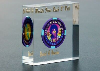 Hard Rock Hotel Casino Las Vegas Jimi Hendrix Purple Haze $25 Chip Plexi Hrc