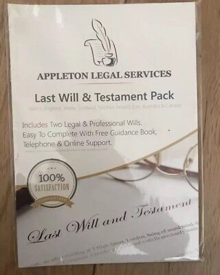 last will and testament kit DIY Will Pack  Brand new