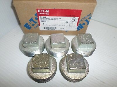 """**new Box Of 5** Eaton Cooper Crouse Hinds Plg65 2"""" Square Head Pipe Plug"""