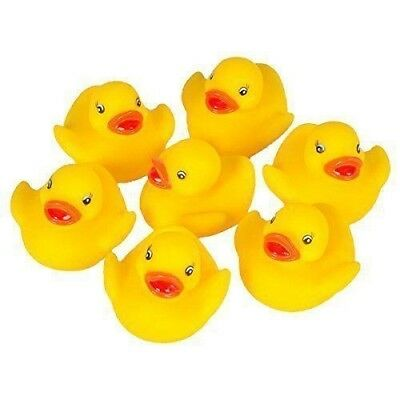 10 Small Kids Duck Toys Bath Fun Floating Water NEW Bath Rubber Ducks
