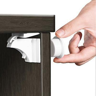Baby Proofing Magnetic Cabinet Drawer Cupboard Lock Set for Kids Children Safety