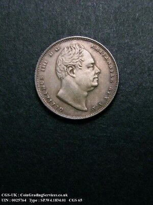 1834 William IV Sixpence CGS Slabbed coin