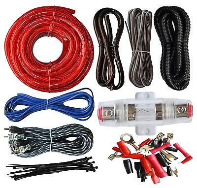 4 Gauge Cable Car Audio Kit Amp Amplifier Install Sub Wiring RCA Subwoofer 2200W