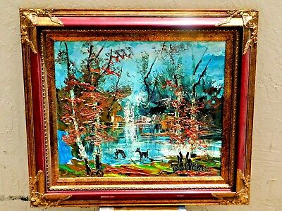 Morris Katz Landscape Painting - Oil on Board - Signed