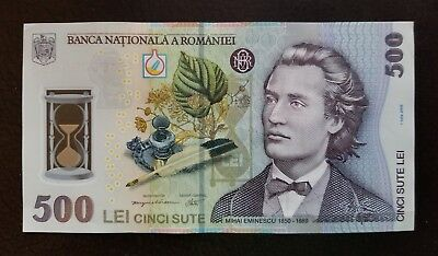 Romania 500 Lei, 2005(2009), P-123, Polymer, currency, UNC