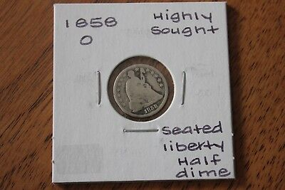 1858-O   Highly Sought  Seated Liberty Half Dime