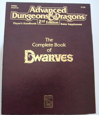 Advanced Dungeons and Dragons - The Complete Book of Dwarves