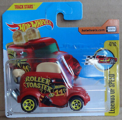 HW Hot Wheels - Roller Toaster in dark red - HW Fast Foodie series - MOC