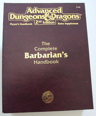 Advanced Dungeons and Dragons - The Complete Babarian's Handbook