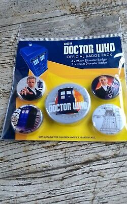 Doctor Who official badge pack BBC