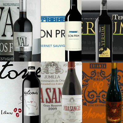 Spanish Crianza and Reserva Red Wine Mixed Case of 6