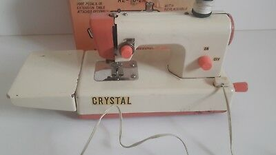 Vintage 1950s/60s  crystal  tin plate Childs Sewing Machine retro prop tlc