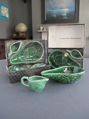4 x Tony Raymond Vintage Retro Avocado Pear Dish & Jug Sets Original Boxes