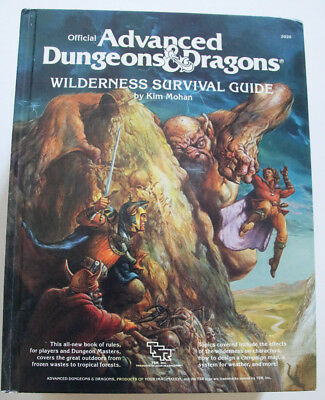 Advanced Dungeons and Dragons - Wilderness Survival Guide (1986) SELTEN