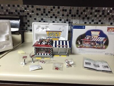 Department 56 Gus's Drive-In The Original Snow Village Vintage Rare 2001 Works