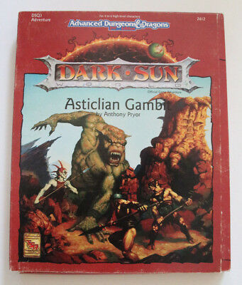 "Advanced Dungeons and Dragons - Dark Sun ""Asticlian Gambit"""