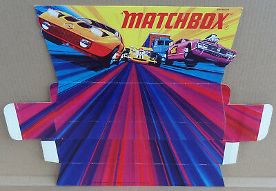 Matchbox Super Speed Kings original shop counter display point of sale card sign