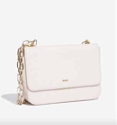Buy It Now IVORY Italian 'NALI' Shoulder Bag- Double 'Gold' Chain RRP £60 NWT