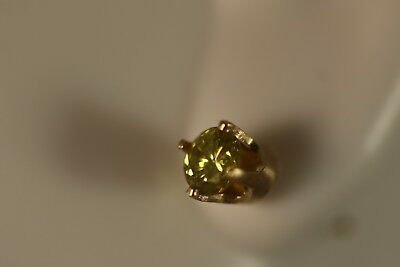 Fred Meyer Fi 14k Yellow Gold 50ct Canary Diamond Post Stud Earrings