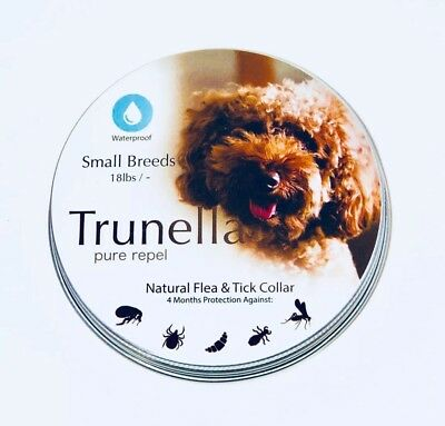 Natural Flea & Tick Collar (Small Dog) Trunella- Pure Repel /Safe / Waterproof