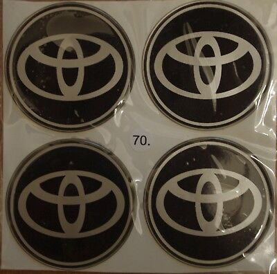 4X 70mm/~2,76 inches Wheel Center Hub Cap Stickers 3D Emblems for TOYOTA