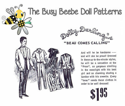 Dolly Darling Beau Comes Calling Pattern For Vintage Ken