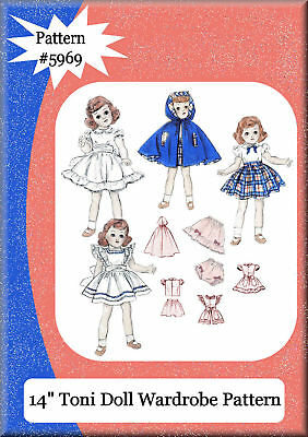 "#5969 Vintage 14"" Toni Doll Clothes Pattern"