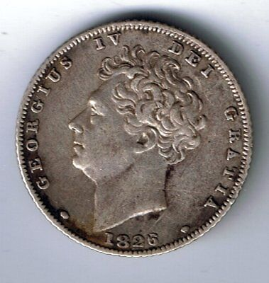 1826 George IV sterling silver sixpence 6d coin - 2.8g