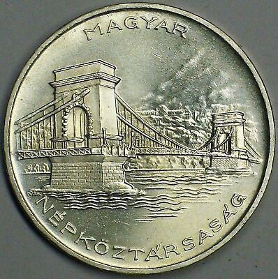 Hungary 1956 Silver 20 Forint Gem Brilliant Uncirculated Km# 553