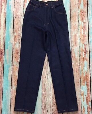 TAYLOR TOGS Vintage 80's Very High Waisted Mom Jeans, Dark Blue, Size 2