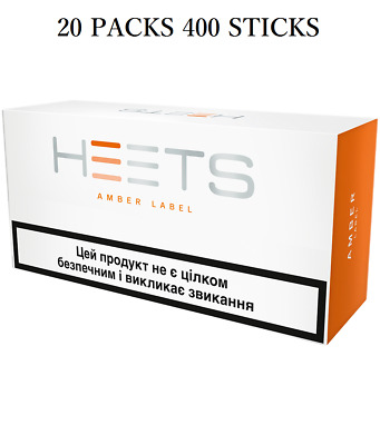 HEAT STICKS Heets Amber Label 20 PACKS 400 STICKS(for IQOS2.4P)  FREE SHIPPING