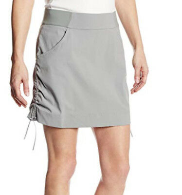 Columbia Women's Anytime Casual Skort Gray UPF50 Water Repellent Size XS NEW