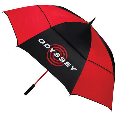 Odyssey Golf 68'' Auto Open Staff Umbrella Black/Red - 2018