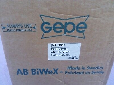 Box of 800 NEW Gepe Slide Mounts 24 X 36 3mm With Double anti newton glass