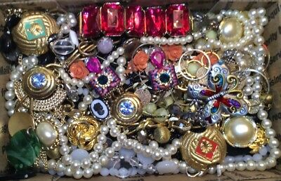 Huge Vintage - Now Jewelry Lot Estate Find Junk Drawer UNSEARCHED UNTESTED #395