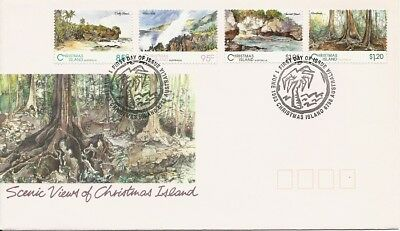 1993 Christmas Island - Scenic Views of Christmas Island First Day Cover FDI