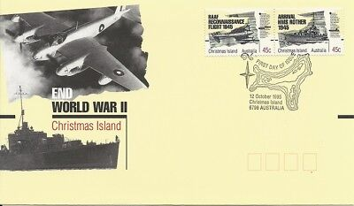 1995 Christmas Island - End of World War II First Day Cover FDI