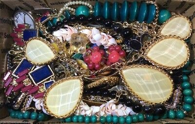 Huge Vintage - Now Jewelry Lot Estate Find Junk Drawer UNSEARCHED UNTESTED #397