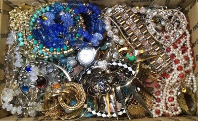Huge Vintage - Now Jewelry Lot Estate Find Junk Drawer UNSEARCHED UNTESTED #399