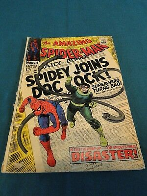 Marvel Comics Group Amazing Spider-Man #56 - Spidey Joins Doc Ock! 1/1968 Nice!