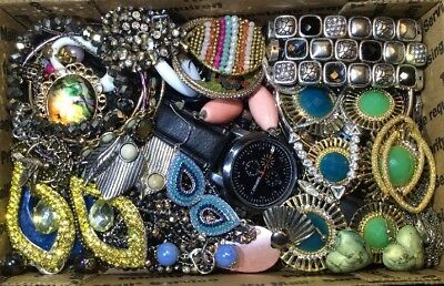 Huge Vintage - Now Jewelry Lot Estate Find Junk Drawer UNSEARCHED UNTESTED #410