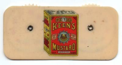 Keen's Mustard   Celluloid Advertising Game Score Counter   Whitehead & Hoag